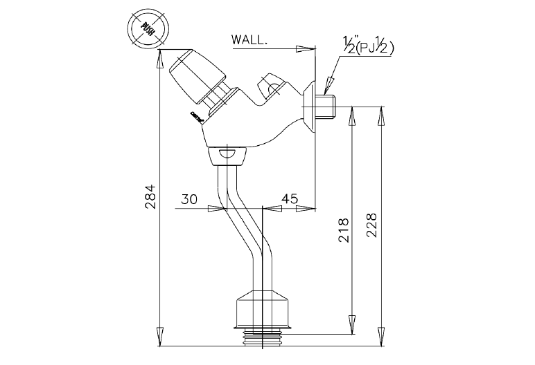 Urinal Flash Valve
